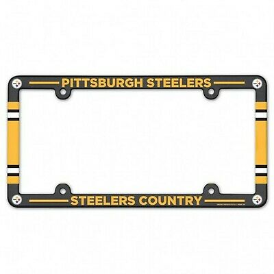 Pittsburgh Steelers Color Car Auto Plastic License Plate Tag Frame Nfl Football