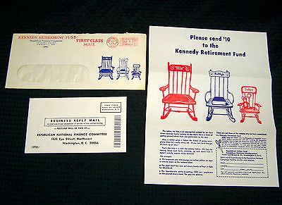1963 Republican National Committee Kennedy Retirement Fund Raising Flyer