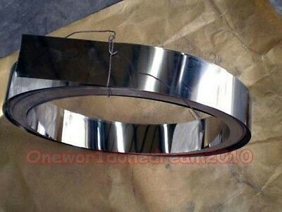 1x Thin S304 Stainless Steel SS Fine Plate Sheet Foil 0.08mm x 100mm x 1000mm