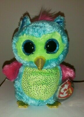 """Ty Beanie Boos ~ OPAL the 6"""" Owl - 2013 Justice Exclusive - MINT wth MINT TAGS"""