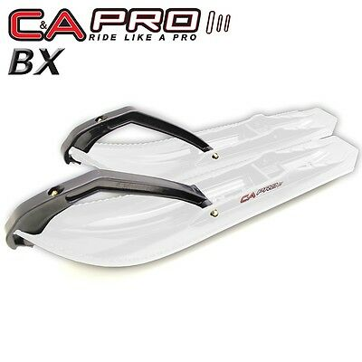 "C&A Pro - Boondocking Xtreme BX - 7 1/4"" White Skis with Black Loops - Pair"