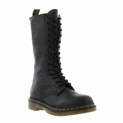 Dr Martens 1B99 Womens 14 Eyelet Black Leather Boots Size 4-8
