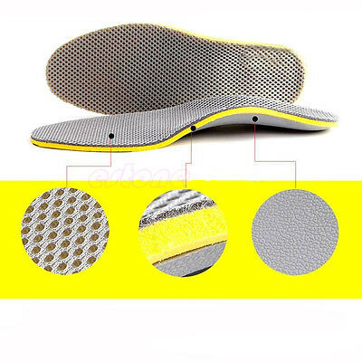 Gel Full Orthotic Support Insoles Inserts Pads Foot Heel Spur Ankle Arch Pain