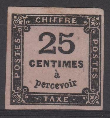 "FRANCE STAMP TIMBRE TAXE N° 5A "" CHIFFRE TAXE 25c NOIR TYPE II "" NEUF x TTB N176"