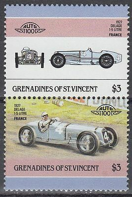 St. Vincent Grenadines 1986 ** Mi.456/57 Autos Cars Delage [sq6441]