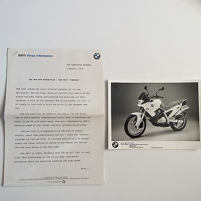 Bmw F650 Funduro. First Official Press Release. Collectable Item.