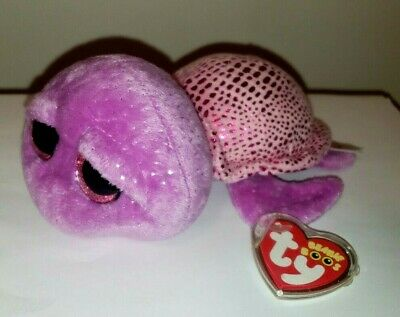 """Ty Beanie Boos ~ SLOW-POKE the 6"""" Turtle Stuffed Plush Toy ~ NEW with MINT TAGS"""