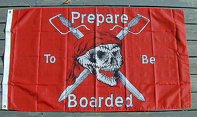 Sale PIRATE FLAG 3'X5' Jolly Roger Prepare to be Boarded Quality 100% Nylon