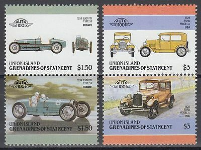 St. Vincent Grenadines Union 1986 ** Mi.184/87 Automobile Autos Cars [sq6474]