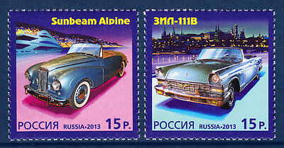 Russia  2013 Cars Russia-Monaco Joint issue MNH