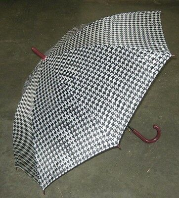 Auto Opening Houndstooth Umbrella