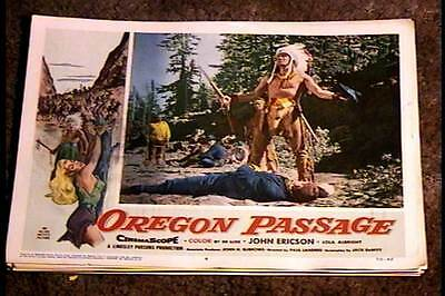 Oregon Passage 1958 Lobby Card #4 Native American Indian Western