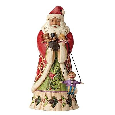 Heartwood Creek by Jim Shore Santa holding Toys Tidings From Toyland  figurine