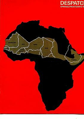 Old DESPATCH RED CROSS magazine SPRING 1974 map of African Drought zone