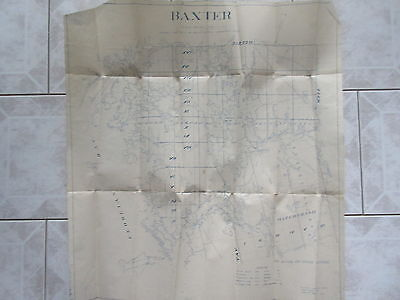 Old 1933 Map Baxter Ontario National Topographic Series