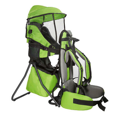 NEW Clevr Baby Backpack Cross Country Carrier w/ Stand Child Kid toddler Green