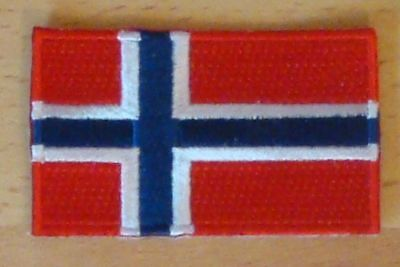 NORWAY Country Flag Embroidered PATCH Badge