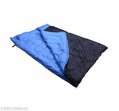 "Outsunny 75"" x 60"" Two-Person Sleeping Bag Double Outdoor Camping with 2 Pillows"