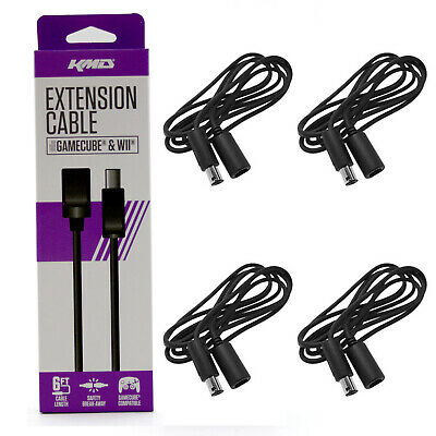 4 X Nintendo GameCube 6' Controller Extension Cable KMD New (6 foot Cord)