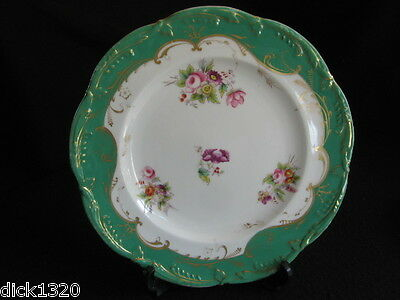 "ANTIQUE SEVRES PORCELAIN HAND-PAINTED 9"" PLATE 4/448 c.1800's J-F Micaud?"