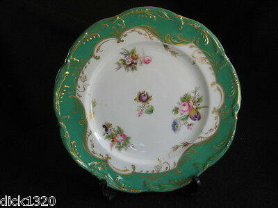 "ANTIQUE SEVRES PORCELAIN HAND-PAINTED 9"" PLATE  c.1800's J-F Micaud? EXCELLENT"