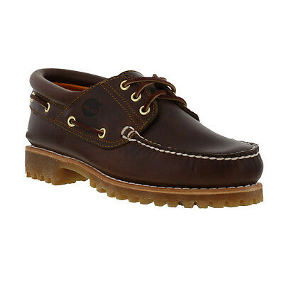Timberland 30003 Mens Brown Leather Classic Lug Boat Shoes Size UK 8-11