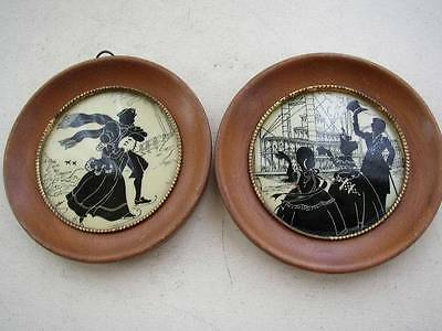 Vintage Pair of 4.5in Framed Silhouettes