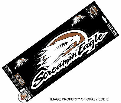 * Xl * Harley Davidson Screaming Eagle Decal Set * Almost 14 Wide * Screamin