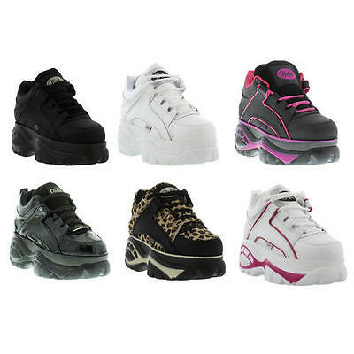Buffalo 1339-14 Mens Womens Shoes Leather Platform Trainers Boots Size 4-9