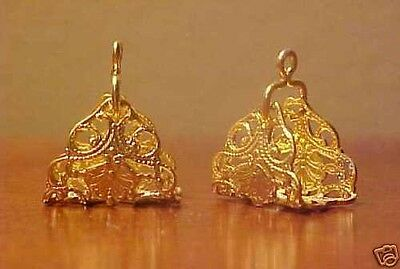 1:9 Traditional / Small Trad. Model Horse Scale FILIGREE ARABIAN STIRRUPS - Gold