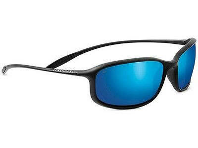 Serengeti Sestriere Sunglasses (Satin Black Frame Polarized Phd 555Nm Blue Lens)