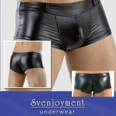 Svenj. Men´s Wear Wetlook Master Hipster Pants eng anliegend NEU in S M L XL XXL