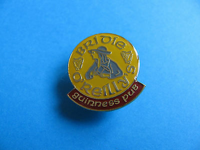 Guinness Pin Badge. VGC. Unused. Bridie O'Reilly's Guinness Pub