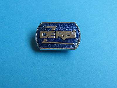 DERBI Motorcycle lapel badge, VGC. Unused. Enamel. Metallic Blue.