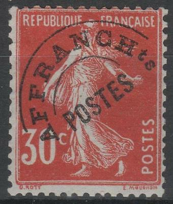 """FRANCE STAMP TIMBRE PREOBLITERE 58 """" SEMEUSE 30c ROUGE """" NEUF xx TB A VOIR N226"""