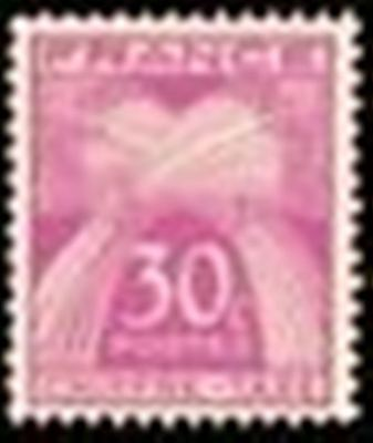"FRANCE STAMP TIMBRE TAXE N° 68 "" TYPE GERBES 30c LILAS-ROSE "" NEUF x TB"