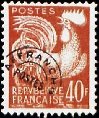 """FRANCE PREOBLITERE TIMBRE STAMP N°116 """"TYPE COQ GAULOIS 40F """" NEUF (x) TB"""