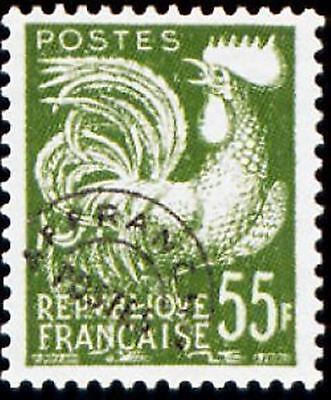 "FRANCE PREOBLITERE TIMBRE STAMP 118 "" TYPE COQ GAULOIS 55F "" NEUF (x) TB"