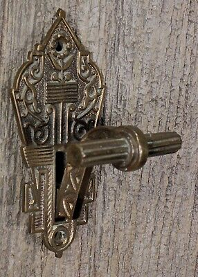 mechanical Doorbell PULL Handle Bell Trip Lever vintage 1800's Bronze Eastlake