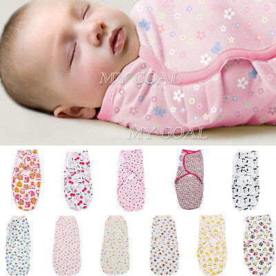 100% Cotton Soft Baby Infant Kids Swaddle Stroller Wrap Blankets Sleeping Bag