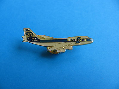 Airliner Pin Badge. VGC, Enamel. Little League, Washington. Baseball