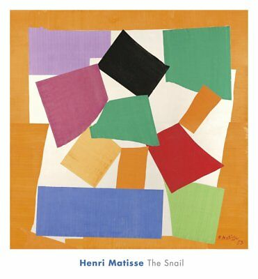 The Snail, 1953 by Henri Matisse Art Print Abstract Shapes Poster 26x28