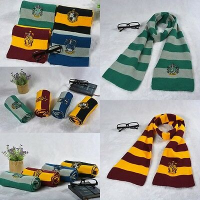 Cosplay Harry Potter Warm Scarf Gryffindor Wool Knit Scarves Wrap Soft Costume
