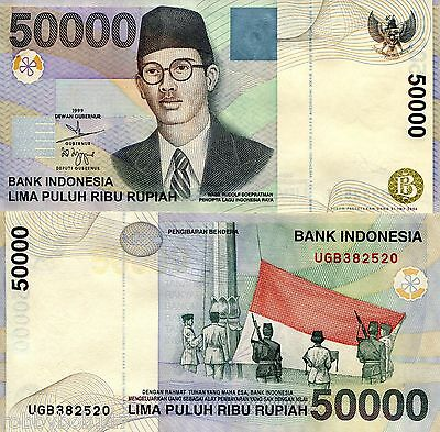INDONESIA 50000 Rupiah Banknote World Money UNC Currency Asia Bill p139f Note