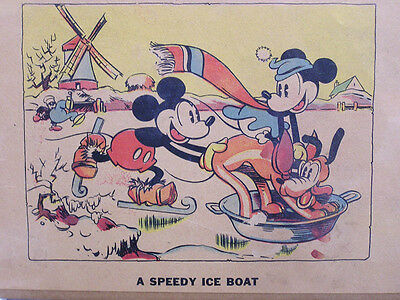 Three Vintage Mickey Mouse Panels From 1930s Coloring Book Pluto Nephews