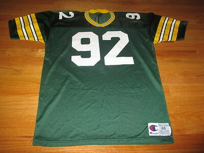 37f0424d AUTHENTIC VINTAGE CHAMPION Green Bay Packers #92 Reggie White Jersey ...
