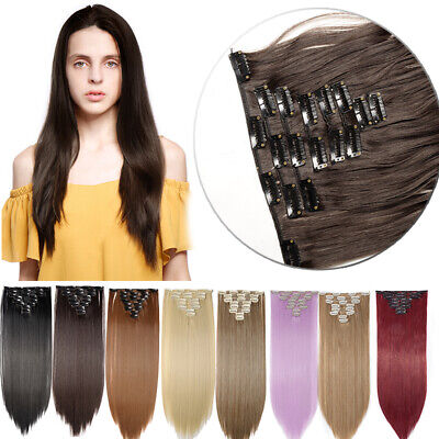 AU 8 Piece Full Head Clip In Hair Extension Extensions Real Thick As Human ME5