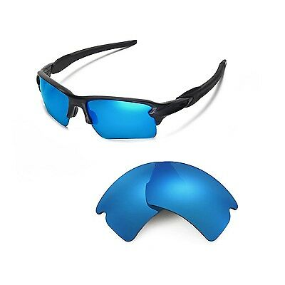 Walleva Polarized Ice Blue Replacement Lenses For Oakley Flak 2.0 XL Sunglasses