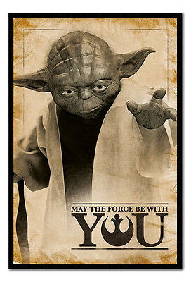 Framed Star Wars Yoda May The Force Be With You Poster