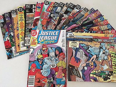 Justice League lot of 65 issues from JLE JLA JLI  Giffen DeMatteis 80's and 90's
